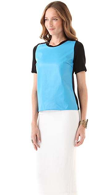 Julie Haus Marcus Leather Top