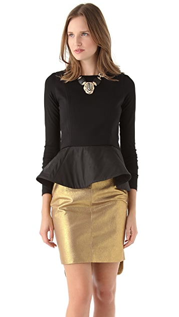 Julie Haus Novak Peplum Top