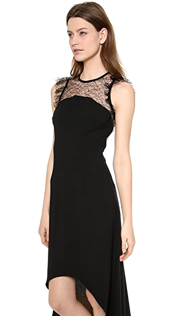 Jill Jill Stuart High Low Chantilly Lace Gown