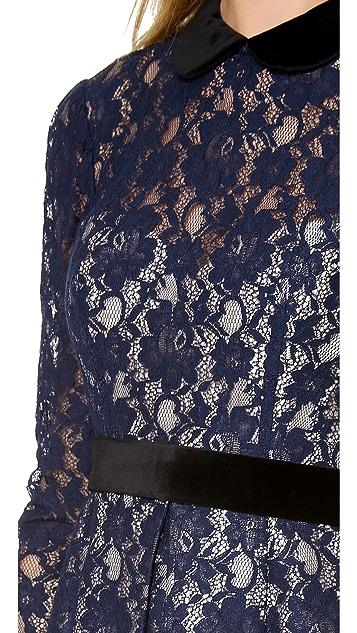 Jill Jill Stuart Long Sleeve Lace Dress