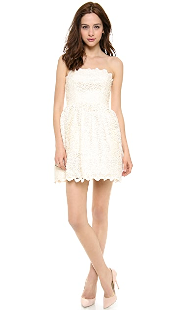 Jill Jill Stuart Strapless Lace Dress