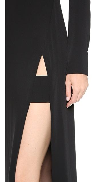 Jill Jill Stuart Long Sleeve Maxi Dress with Slit
