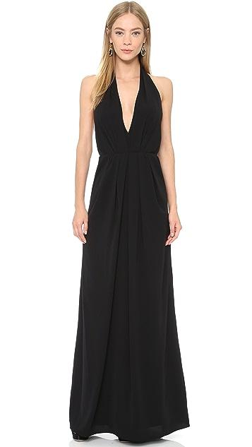 Jill Jill Stuart Deep V Halter Gown