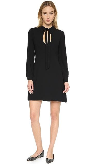 Jill Jill Stuart Tie Neck Long Sleeve Dress