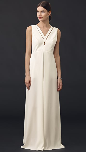 Jill Jill Stuart Cross Cutout Gown