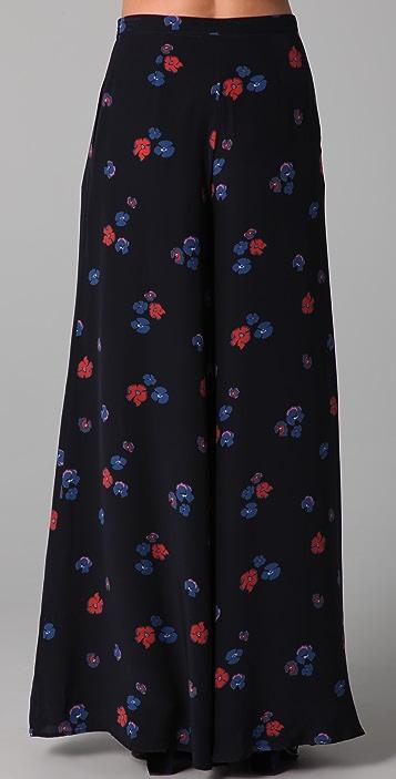 Jill Stuart Torie Violet Print Pants