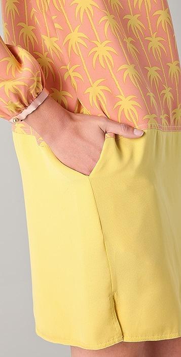 Jill Stuart Lena Print Long Sleeve Dress