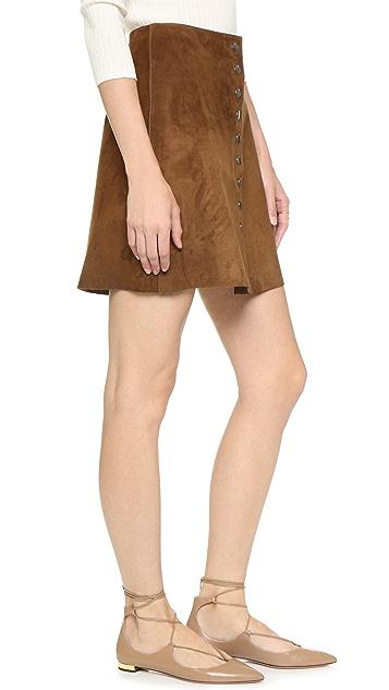 Jill Stuart Zoe Suede Skirt