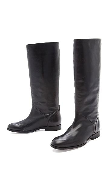 Jil Sander Navy Knee High Boots