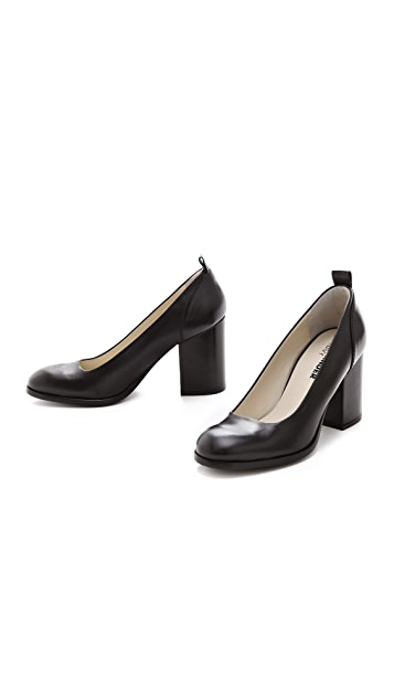 Jil Sander Navy High Heel Pumps