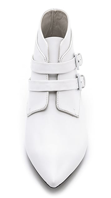 Jil Sander Navy Point Toe Booties