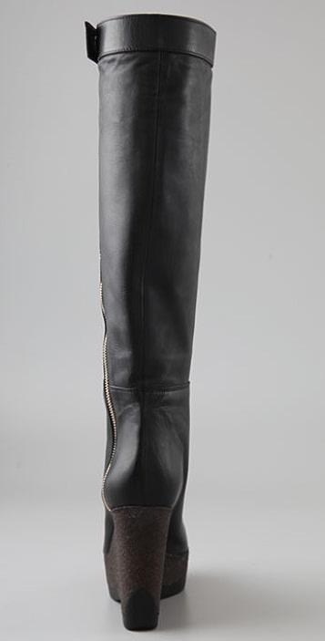 Jil Sander Platform Wedge Boots