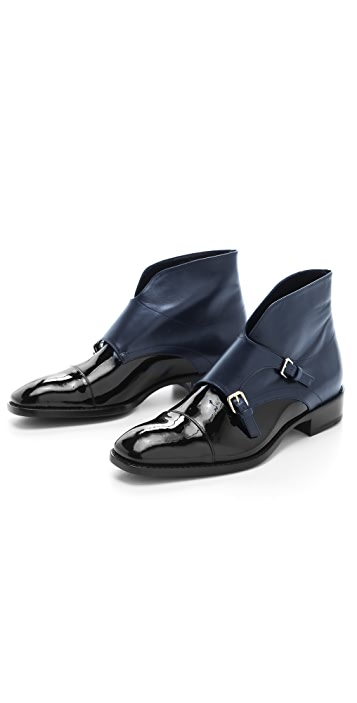 Jil Sander Monk Strap Flat Booties