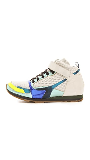 Jil Sander High Top Sneakers