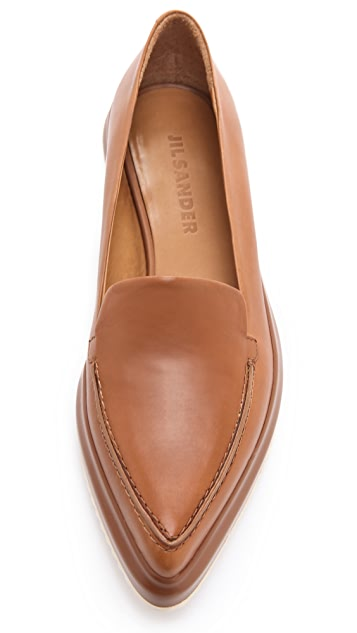 Jil Sander Light Brown Creeper Shoes