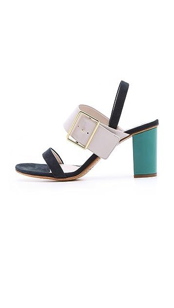 Jil Sander Multicolored Heeled Sandals
