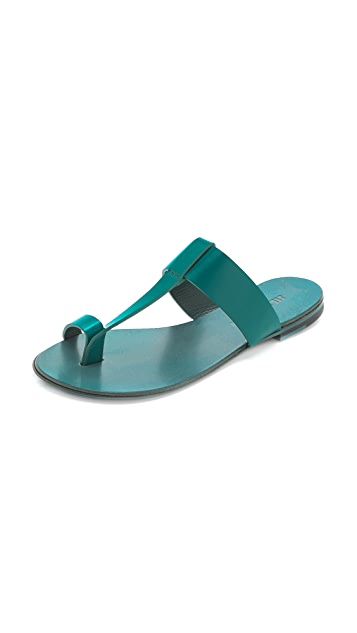 Jil Sander Aquamarine Sandals