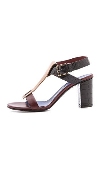 Jil Sander Ankle Strap Heeled Sandals