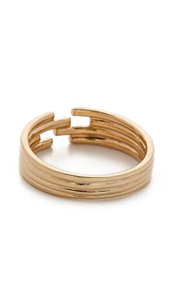 Jennie Kwon Designs Stacked Diamond Cuff Ring