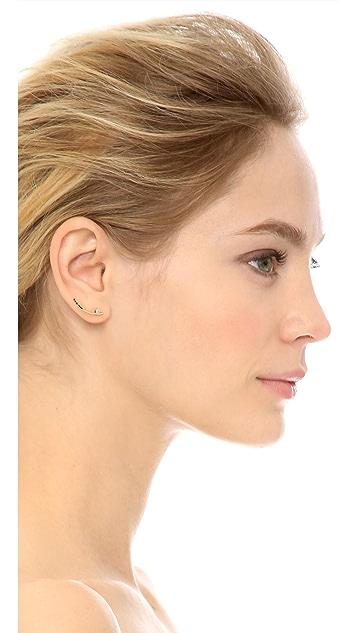 Jennie Kwon Designs Long Curved Bar Stud Earring