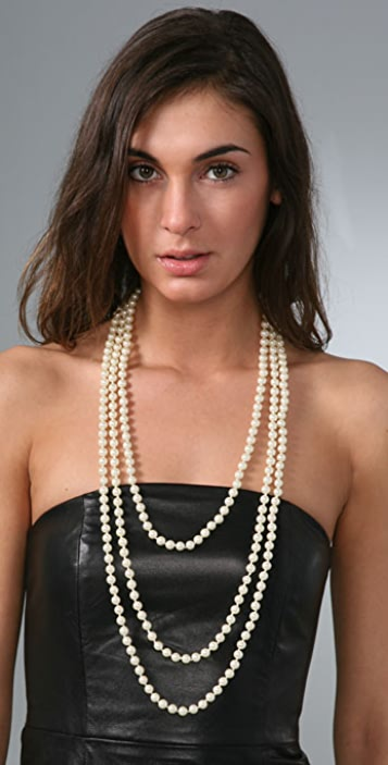 Juliet & Company Triple Strand Pearl Necklace