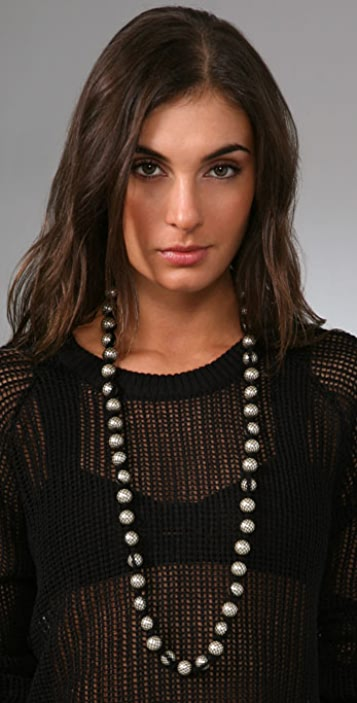 Juliet & Company Fishnet Stocking Pearl Necklace