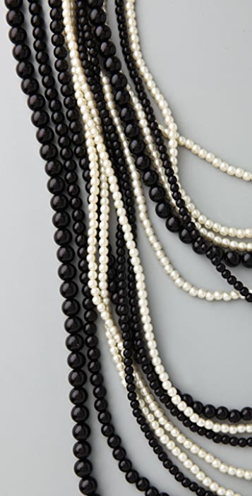 Juliet & Company Black & White Graduated Pearl Necklace