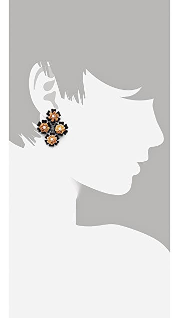 Juliet & Company Multi Fleur Earrings