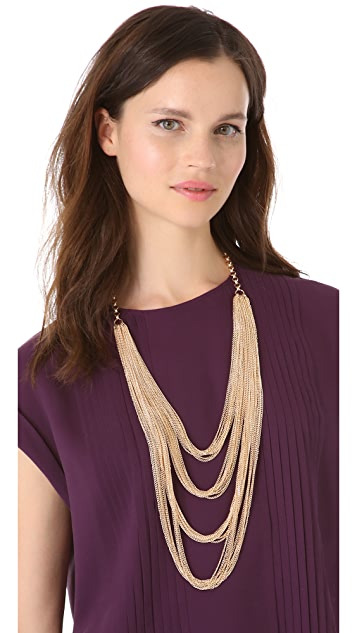 Juliet & Company Golden Multi Tier Necklace