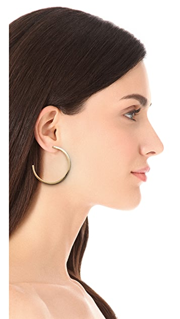 Juliet & Company Baguette Hoop Earrings