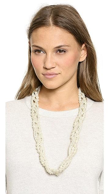 Juliet & Company Multi Imitation Pearl Braid Necklace