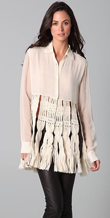 James Long Macrame Shirt