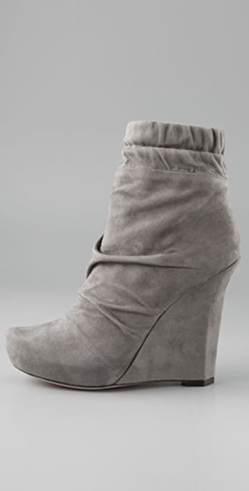 Jean-Michel Cazabat Fergie Suede Wedge Booties