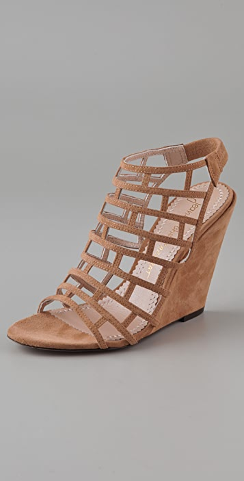 Jean-Michel Cazabat Pia Suede Wedge Sandals