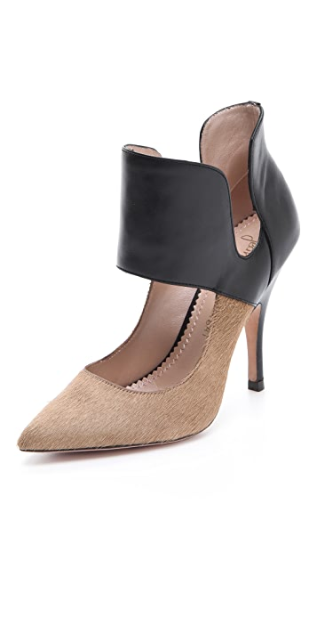 Jean-Michel Cazabat Isola Collared Haircalf Pumps