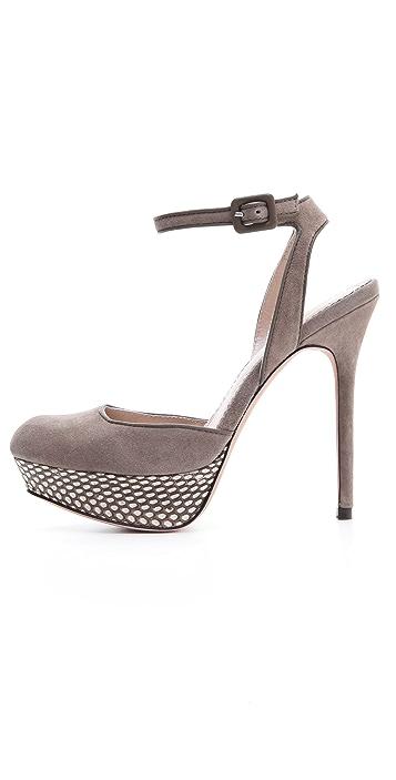Jean-Michel Cazabat Lex Ankle Strap Pumps