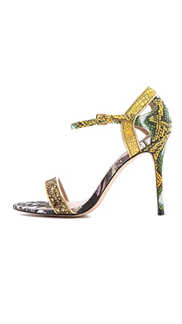 Jean-Michel Cazabat Oka Mixed Media Sandals