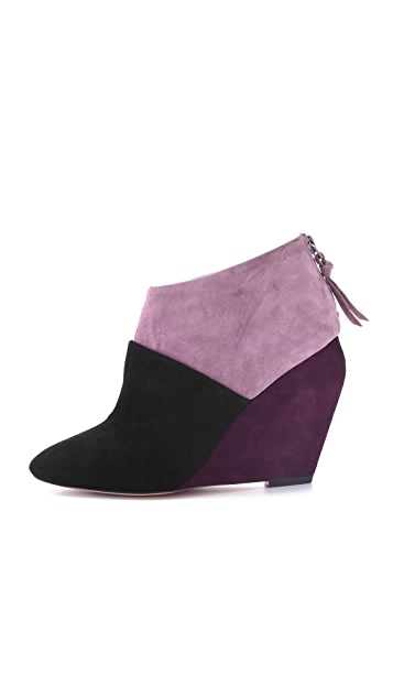 Jean-Michel Cazabat Rica Suede Wedge Booties