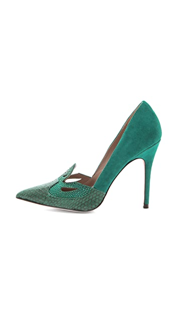 Jean-Michel Cazabat Escort Cutout Pointed Pumps