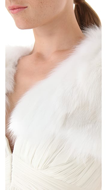J. Mendel Cropped Fur Bolero