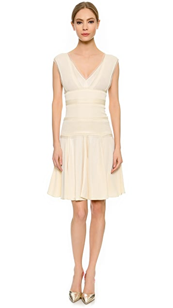 J. Mendel Sleeveless Double V Dress