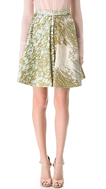 J. Mendel Box Pleat Skirt