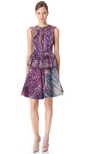 J. Mendel Sleeveless Top with Peplum