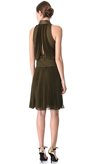 J. Mendel Sleeveless Pleated Dress