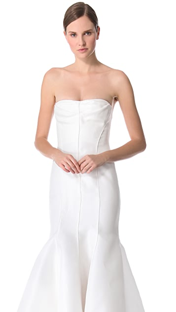 J. Mendel Blanche Strapless Mermaid Gown
