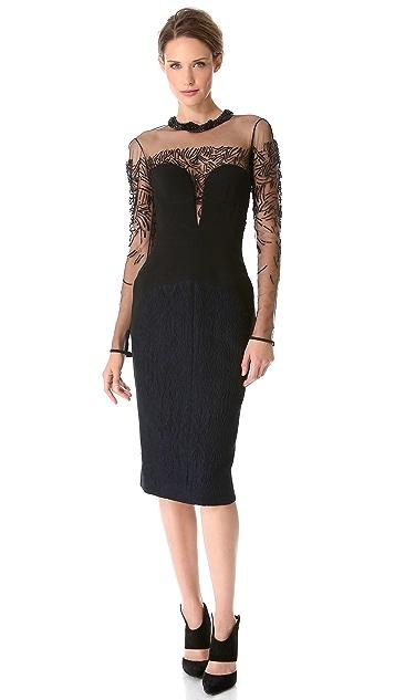 J. Mendel Bustier Paneled Dress