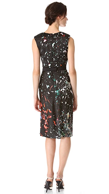 J. Mendel Sleeveless Dress with Hidden Pleats