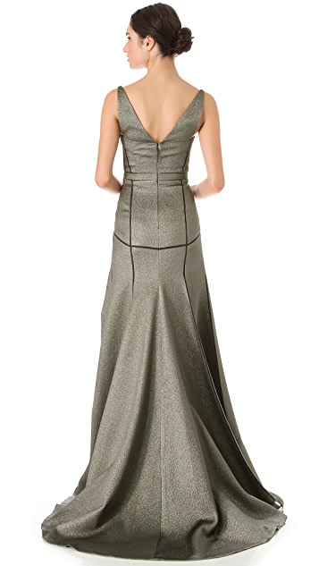 J. Mendel Full Skirt Bustier Gown