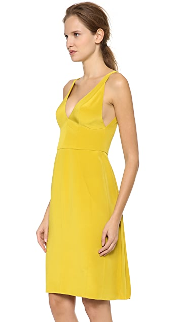 J. Mendel V Neck Sleeveless Dress