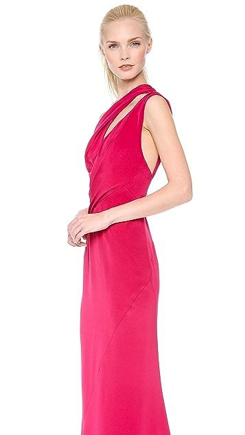 J. Mendel Asymmetrical Drape Gown
